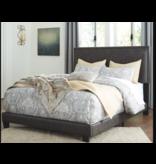 Signature Design B130-081 QUEEN Upholstered Bed Frame- Dark Grayish Brown