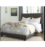 Signature Design QUEEN DARK GRAYISH BROWN B130-081 Upholstered Bed Frame
