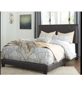 Signature Design B130-081 QUEEN Upholstered Bed Frame- Dark Grayish Brown