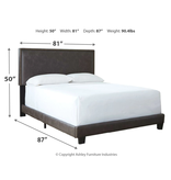 Signature Design B130-082 KING Complete Bedframe- Dark Grayish Brown