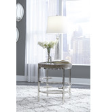 "Signature Design T681-6 Round End Table- ""Zinelli"" Gray"