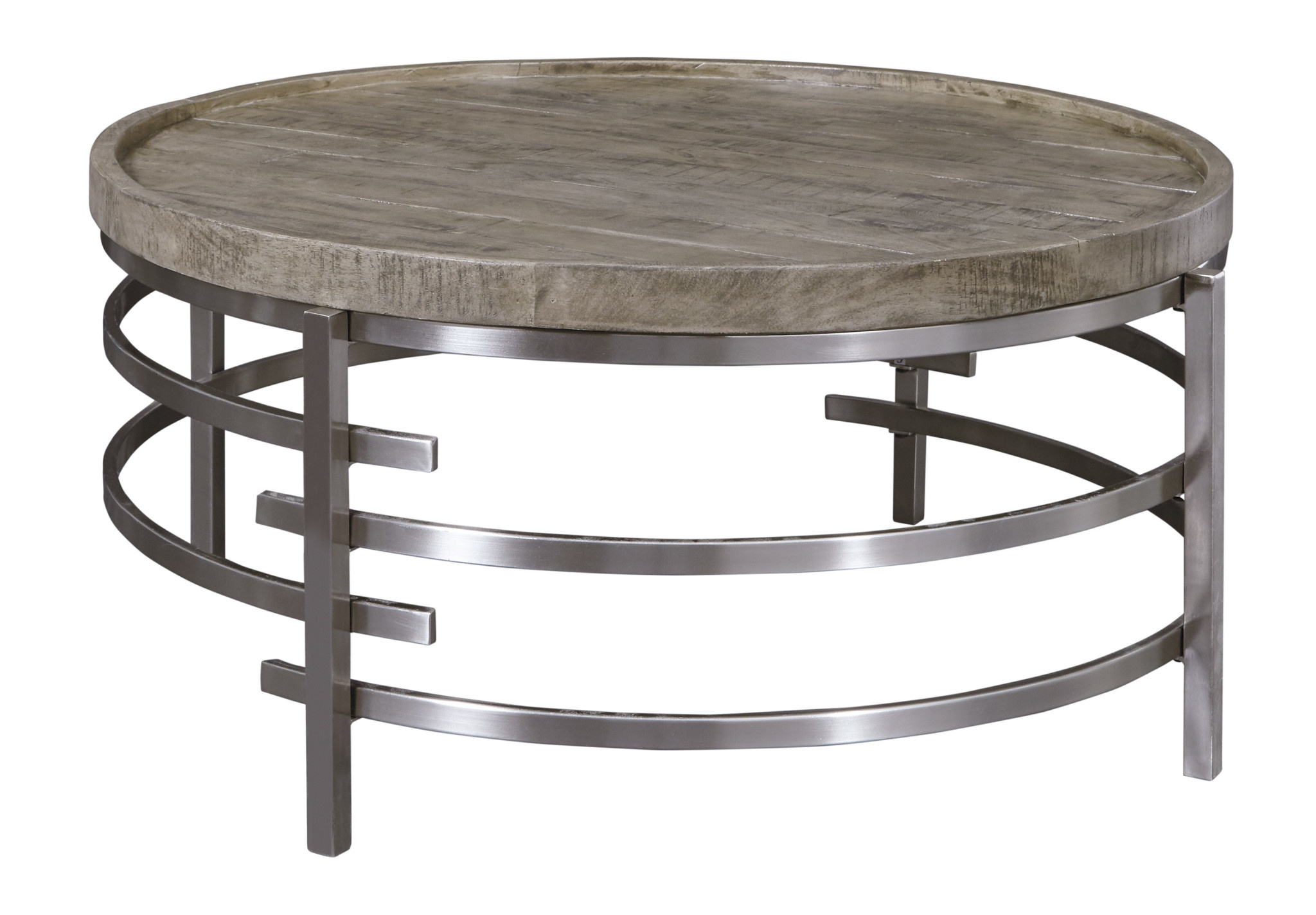 "Signature Design T681-8 Round Cocktail Table- ""Zinelli"" Gray"