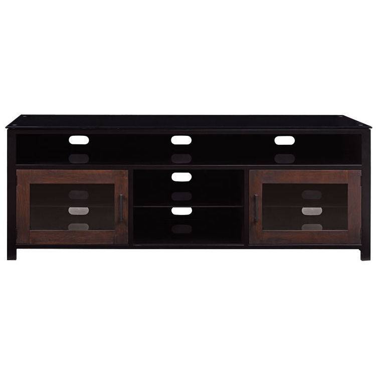 Bell'O Bell'O Bedford Cocoa/Matte Black Finish Wood A/V Cabinet