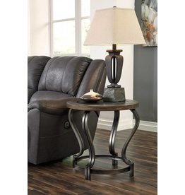 Signature Design Volanta Round End Table - Caramel T739-6