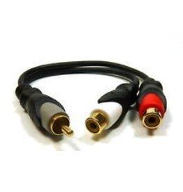 """Philmore Philmore A/V """"Y"""" Adaptor RCA Jack to 2 RCA Plugs"""