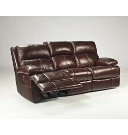 Signature Design Lensar, Reclining Power Sofa, Burgundy, U9900087 DISCONTINUED