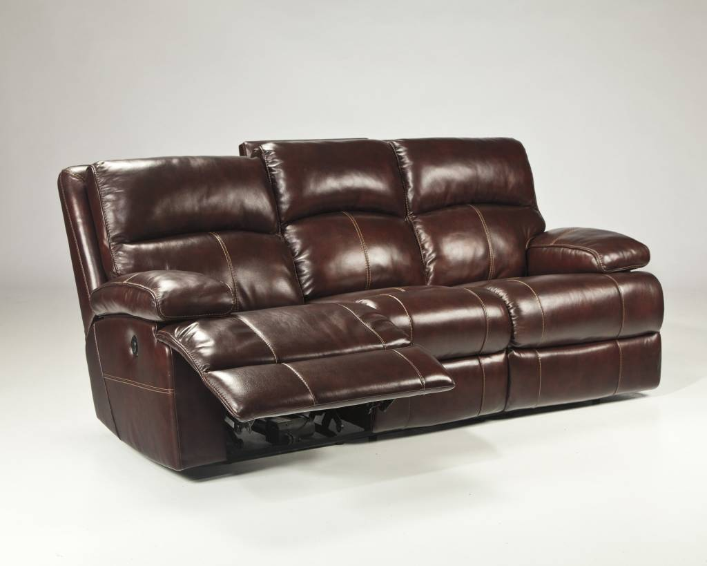 Signature Design Lensar, Reclining Power Sofa, Burgundy, U9900087