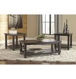 Signature Design Mallacar, Occasional Table Set of 3, Black,  T145-3