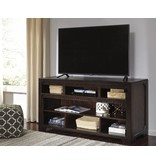 Signature Design Rogness, Large TV Stand W/Fireplace Option, Dark Brown, W745-58