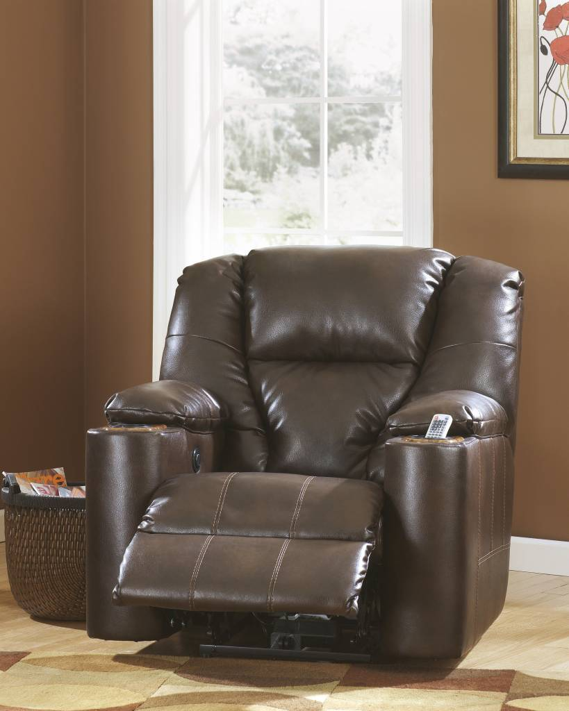 Signature Design Paramount DuraBlend Power Recliner - Brindle, 7640106