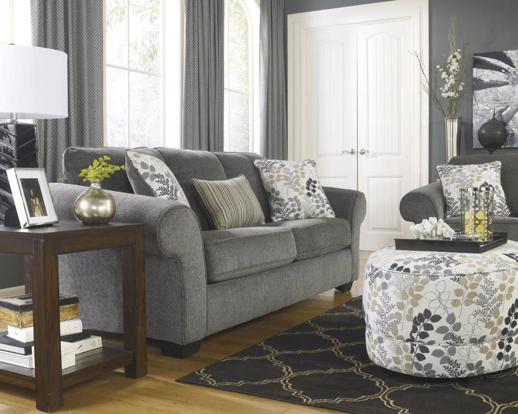 Signature Design Makonnen Queen Sofa Sleeper - Charcoal, 7800039