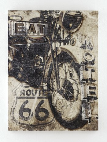 Signature Design Brogan Wall Art - Multi, A8000079 Motorcycle