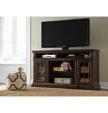 Signature Design Roddinton XL TV Stand w/Fireplace Option - Dark Brown, W701-88