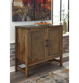 """Signature Design Accent Cabinet- """"Beckings"""" Brown A4000227"""