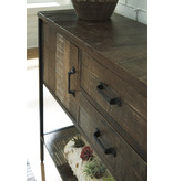 "Signature Design Accent Cabinet- ""Lamoney"" Gray/White/Brown A4000235"