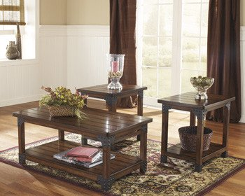 Signature Design Murphy Occasional Table Set (3/CN) - Medium Brown T352-13