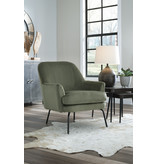 "Signature Design Accent Chair- ""Dericka""- Moss color A3000235"