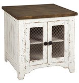 "Signature Design T459-3 ""Wystfield"" White/Brown Rectangular End Table"