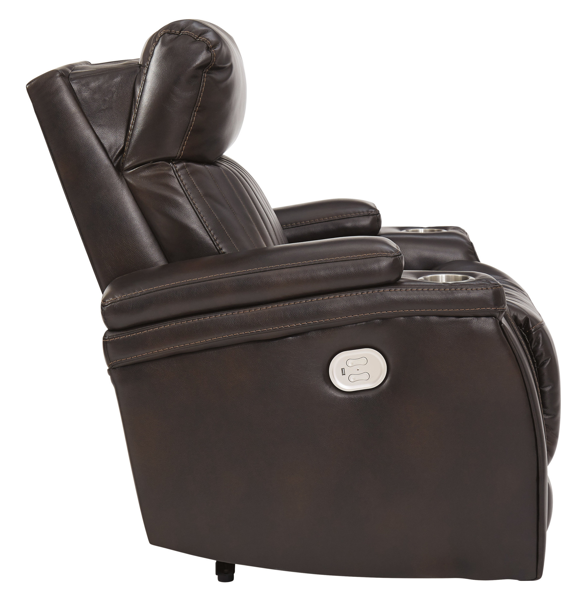 "7830413 Power Recliner w/ Adjustable Headrest, ""Team Time"" Chocolate Color"