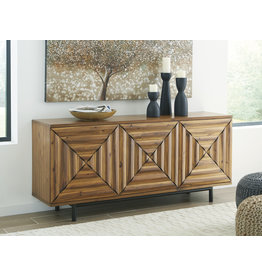 "Signature Design A4000032 ""Fair Ridge"" Accent Cabinet- Warm Brown"