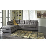 "Signature Design ""MAIER"" Left Arm Facing Chaise- Two Piece Sectional- Gray 4520016/67"