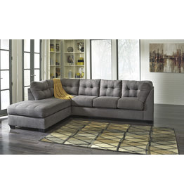 """Signature Design """"MAIER"""" Left Arm Facing Chaise- Two Piece Sectional- Gray 4520016/67"""