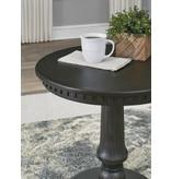 "Signature Design ""Miniore""- Round End Table- Black T960-6"