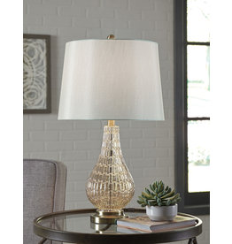 "Signature Design ""Latoya"" Glass Table Lamp- Champagne- L430594"