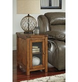 Signature Design Tamonie Chair Side End Table - Medium Brown T830-7