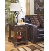 Signature Design Porter Chair Side End Table - Rustic Brown