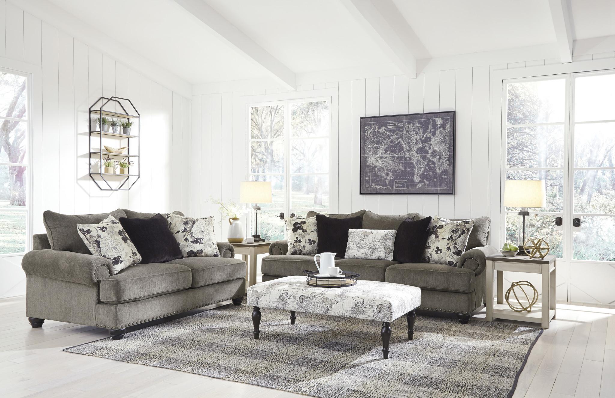 """Signature Design """"Sembler""""  Loveseat- Cobblestone 2340235"""