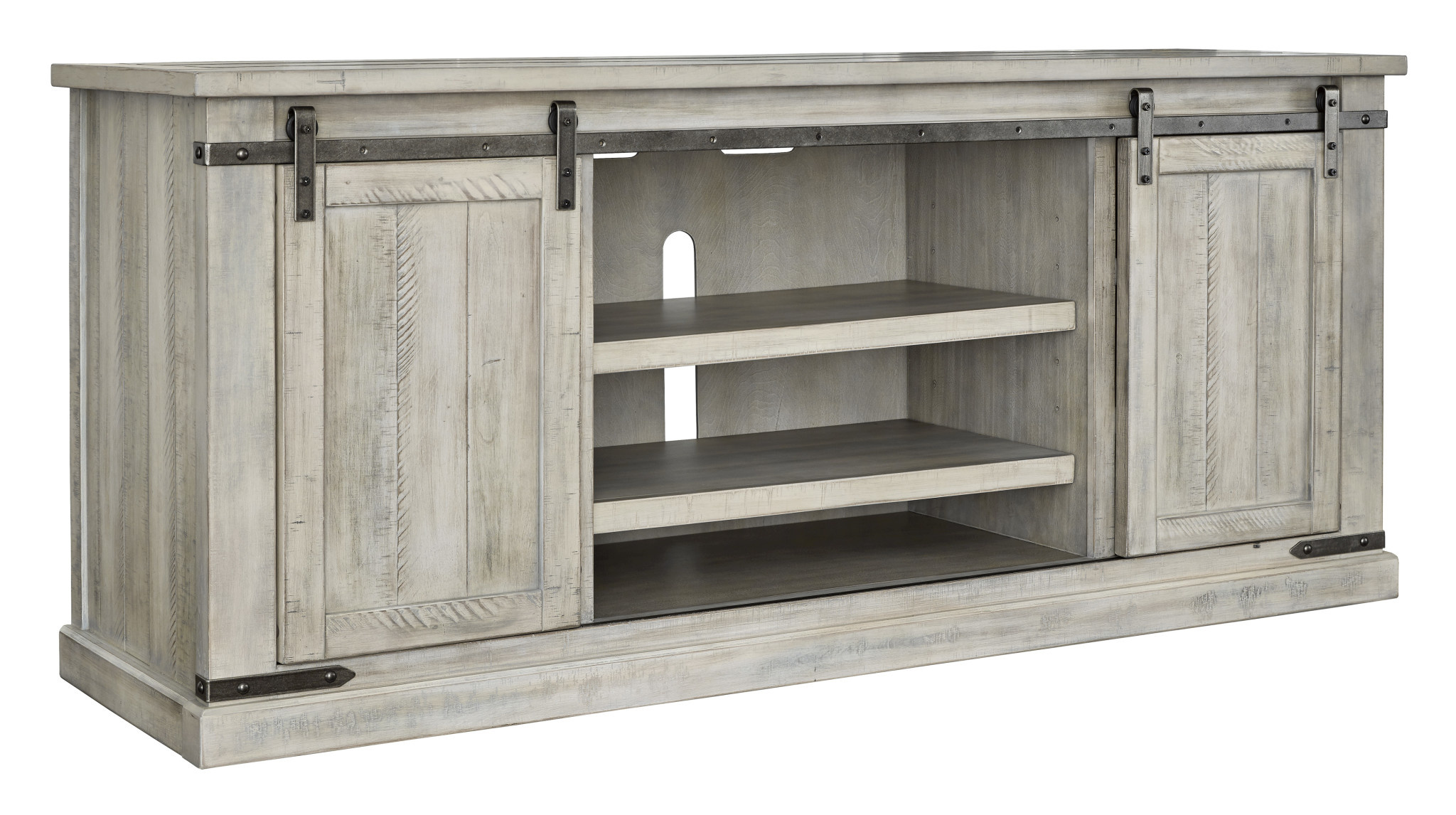 "Signature Design ""Carynhurst""- Extra Large TV Stand-  Whitewash W755-68"