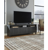 """Signature Design """"Yarlow""""- Extra Large TV Stand- Black- W215-66"""