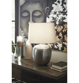 Signature Design Magalie Table Lamp- Antique Silver Finish- L207314
