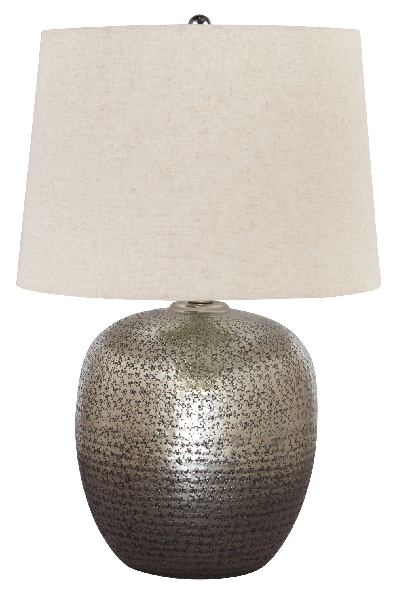 Signature Design Magalie Table Lamp- Antique Silver Finish- L207314