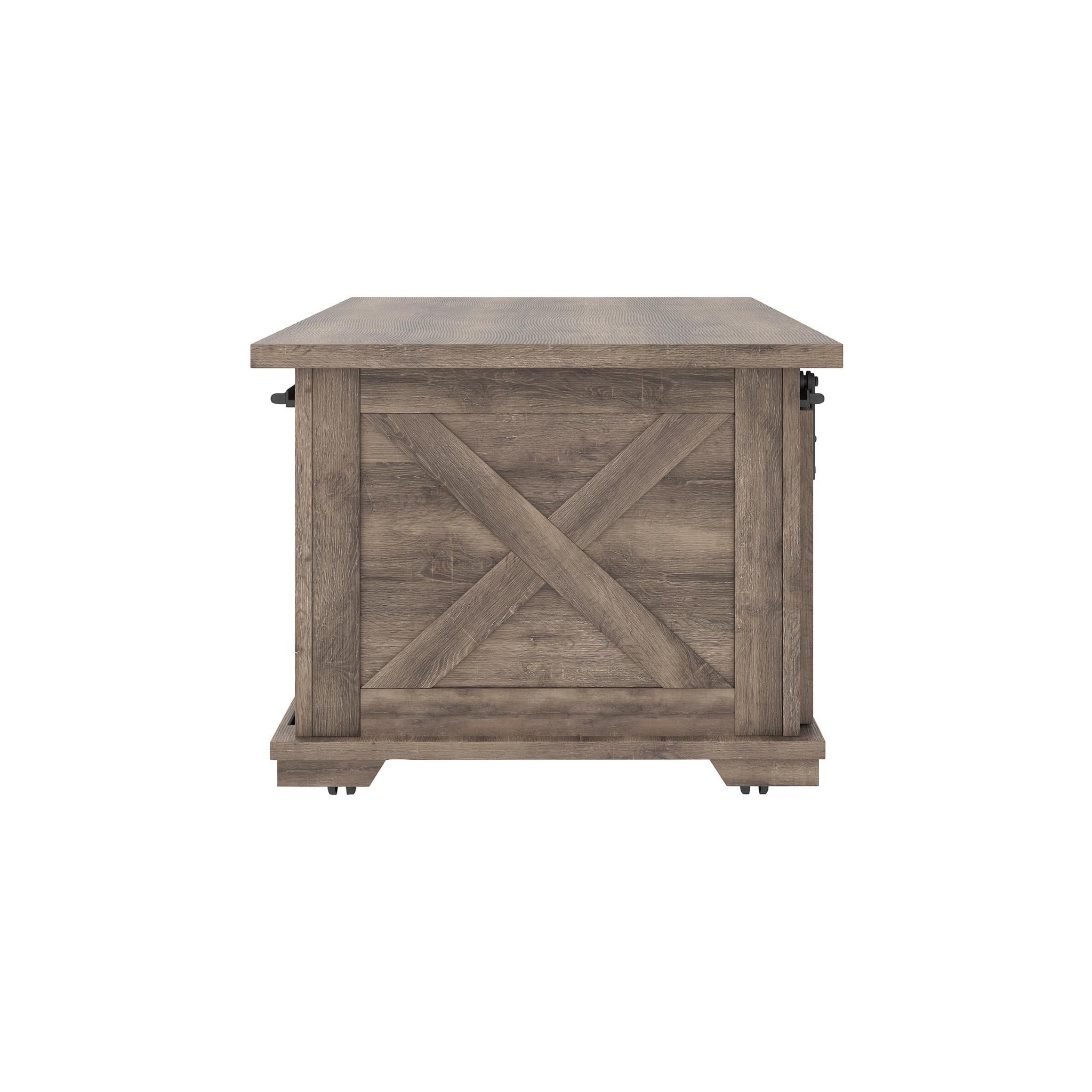 "Benchcraft ""Arelenbry"" Rectangular Cocktail Table- Gray T275-1"