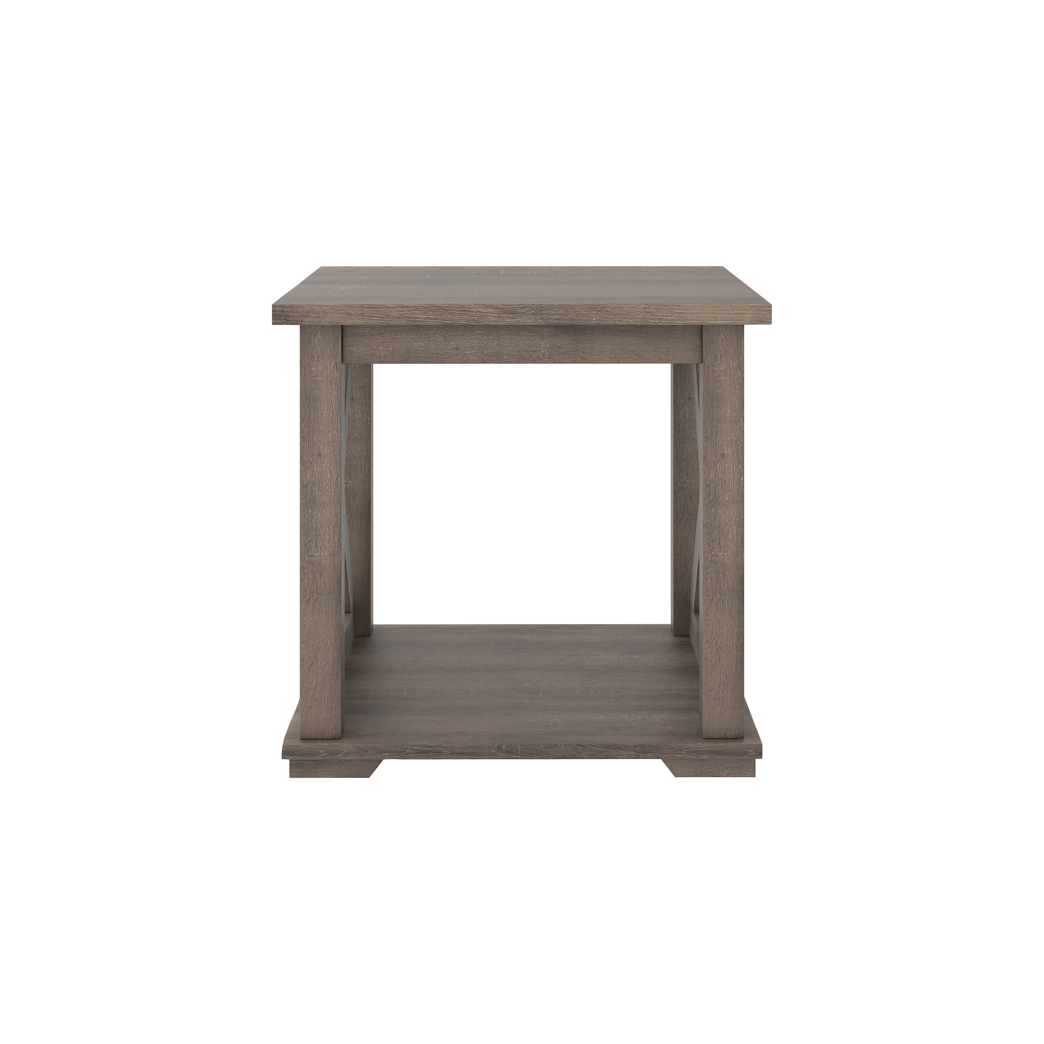 """Benchcraft """"Arlenbry"""" Square End Table- Gray- T275-2"""