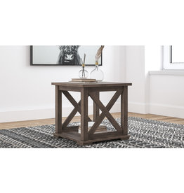 "Benchcraft ""Arlenbry"" Square End Table- Gray- T275-2"