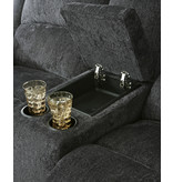 """Signature Design """"Draycoll"""" Double Reclining  Loveseat- Slate Color- 7650494"""