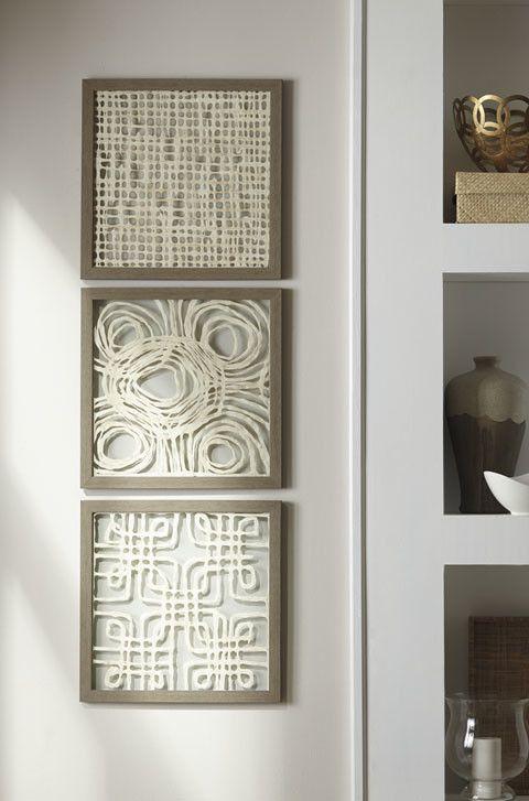 Signature Design Odella Wall Decor Set (3/CN) - Cream/Taupe A8010009