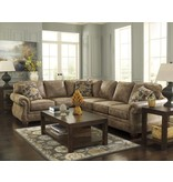 Signature Design Larkinhurst 2 piece Sectional, RAF Loveseat, LAF sofa- Earth 31901 56, 66