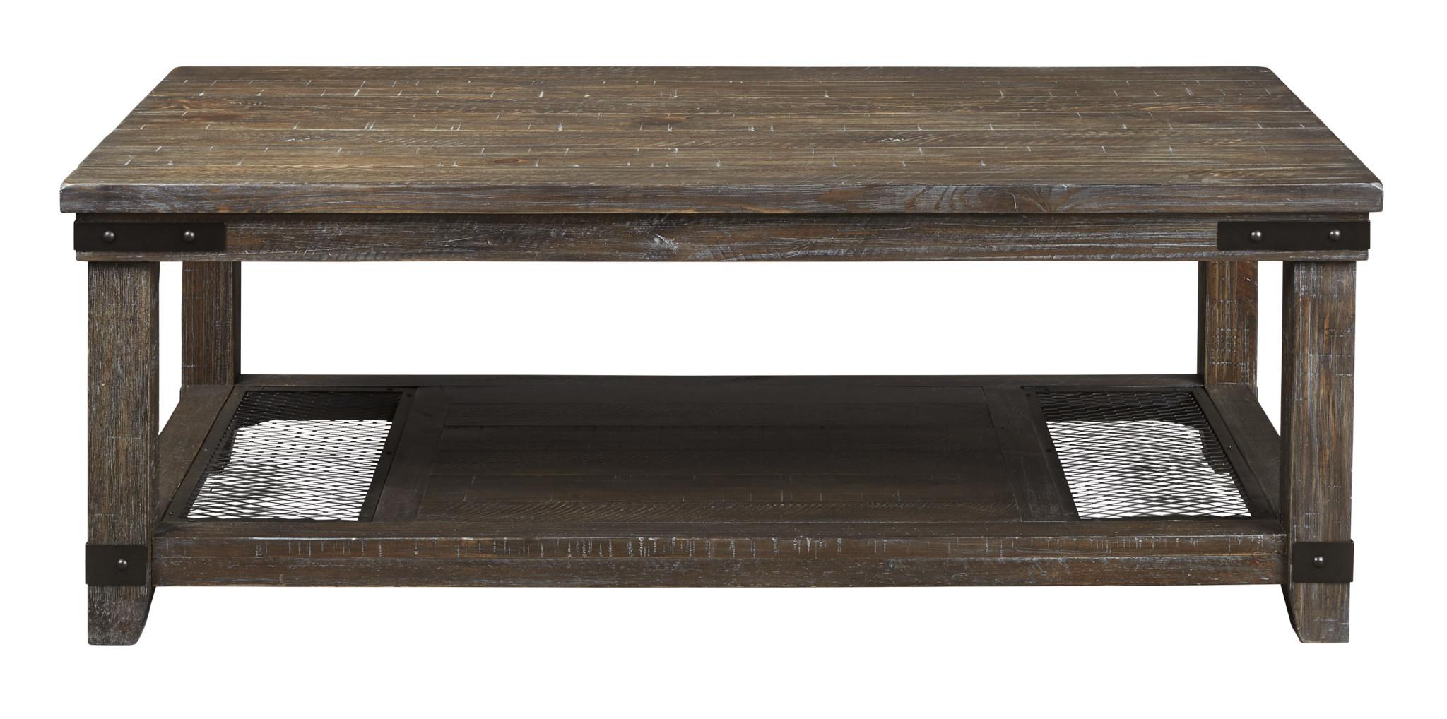 "Signature Design ""Danell Ridge"" Rectangular Coffee Table- Brown- T446-1"