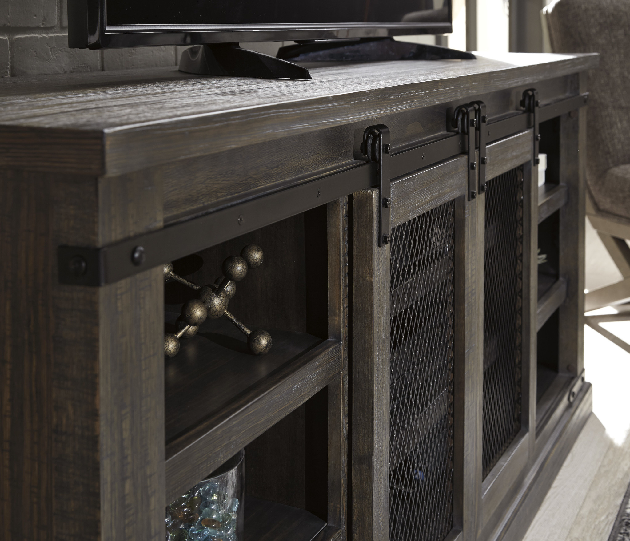 """Signature Design """"Danell Ridge"""" Extra Large TV Stand- Brown- W556-68"""