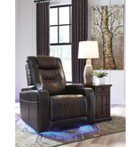 "Signature Design ""Composer"" Power Recliner w/ Adjustable Headrest- Brown 2150713"
