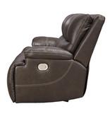 "Signature Design ""Ricmen"" Two Seat Power Reclining Sofa w/ Adjustable Headrest- Walnut U4370147"