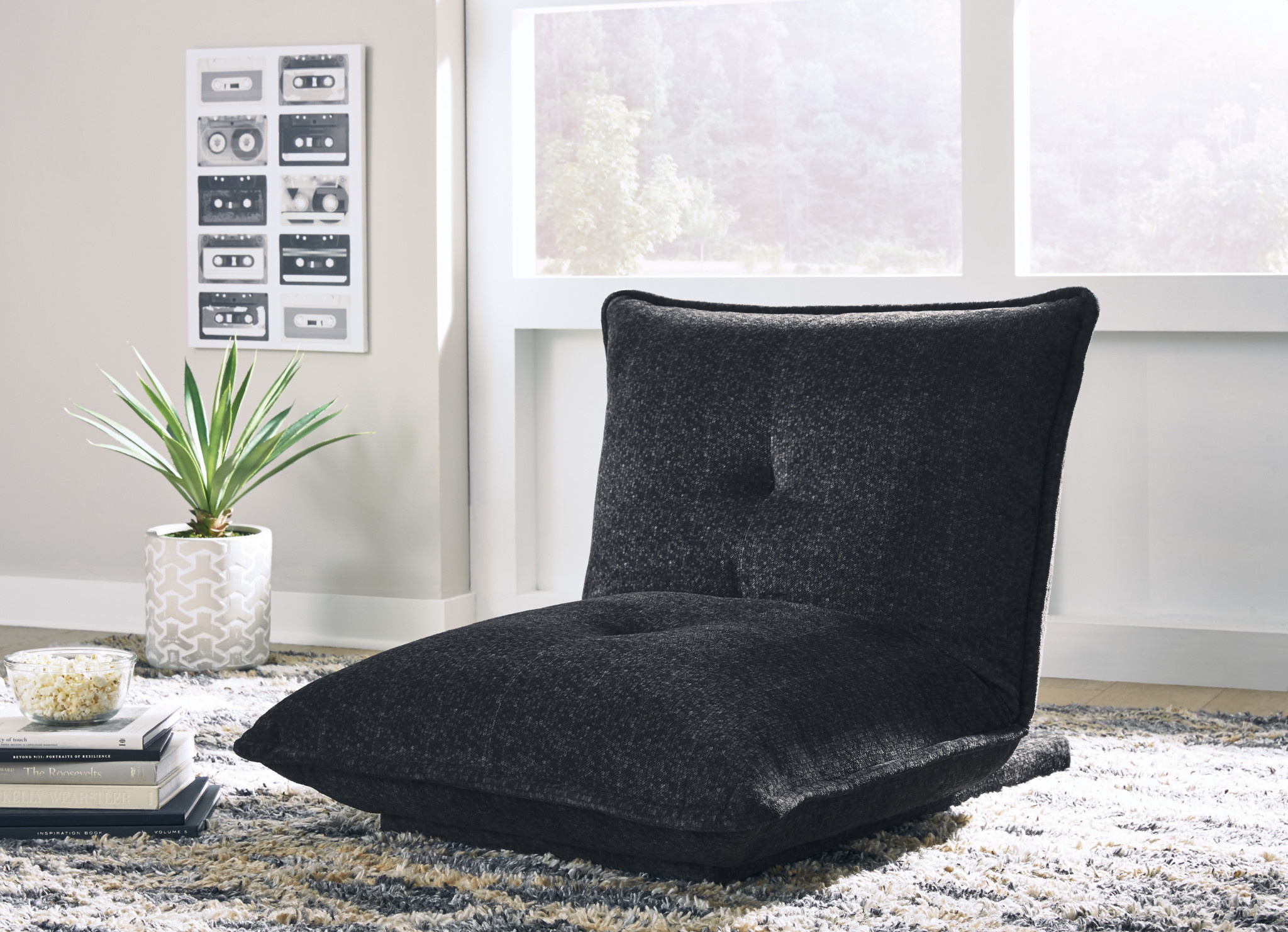 "Signature Design ""Baxford"" Floor Accent Chair ""Charcoal color"" A3000275"