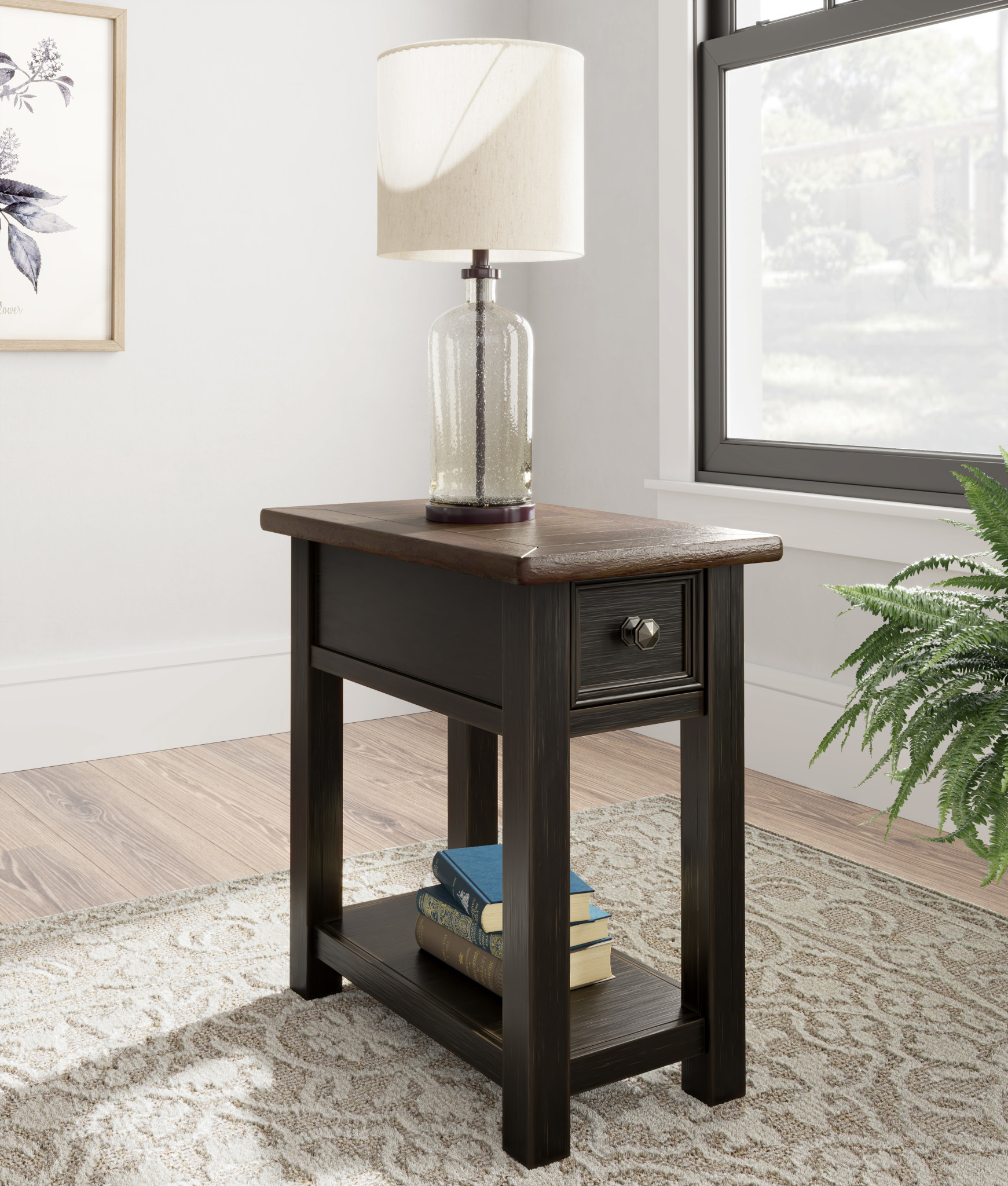 """Signature Design """"Tyler Creek"""" Chair Side End Table- Two-Tone Color- T736-107"""