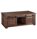 "Signature Design ""Budmore"" Rectangular Cocktail Table- Brown- T372-1"