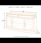 """Signature Design """"Chanceen"""" Medium TV Stand w/ Fireplace or Speaker Option- Dark Brown- W757-48"""