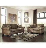 "Signature Design ""Larkinhurst"" Loveseat- ""Earth Color""- 3190135"